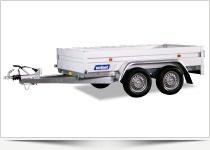 Lavtbyggede trailere med og uden tip